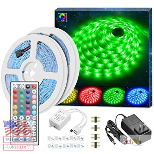 MINGER Led Strip Lights Kit, 32.8Ft RGB Light Strip with Rem